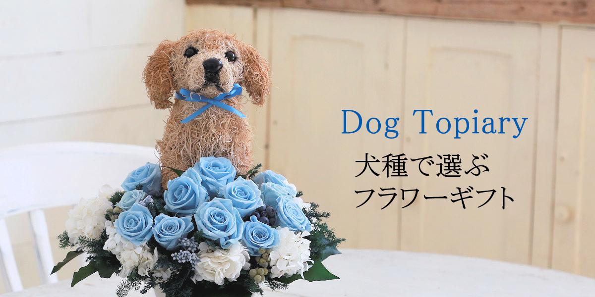 プリザーブドフラワー犬 犬好きの人へのプレゼント