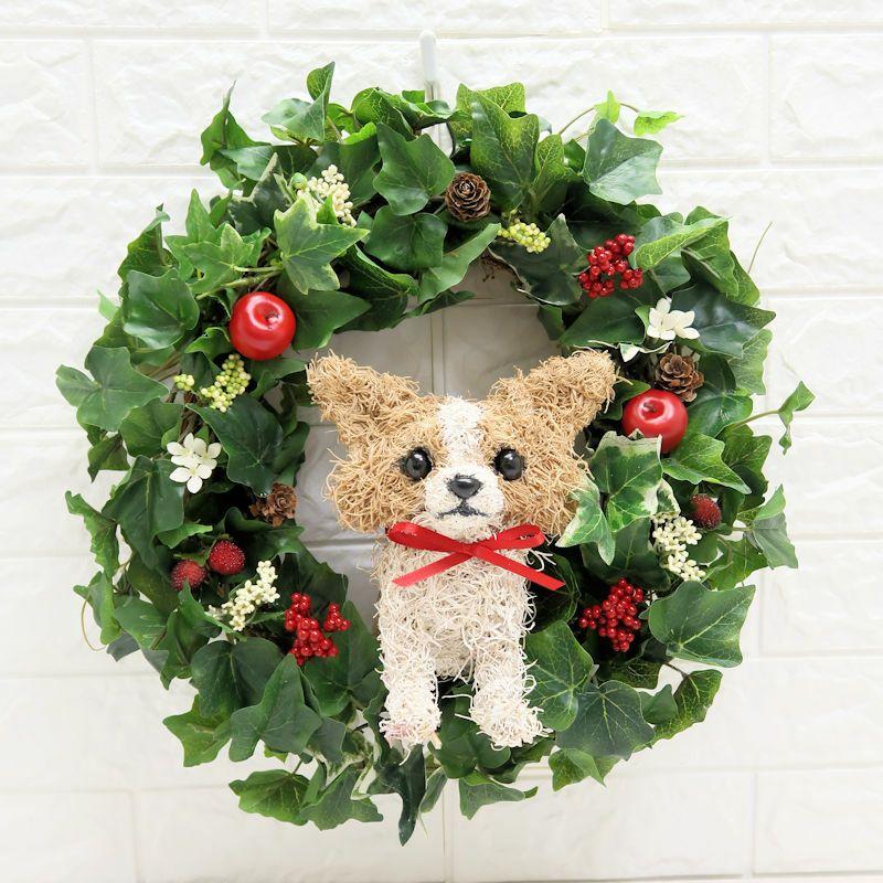 チワワのクリスマスリース